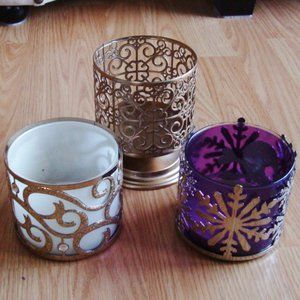 Bath & Body Works 3 Wick Candle Holders | Lot of 3